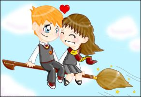 Ronald and Hermione by gryffindor-girl