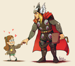 Mabel and Thor by CuteSkitty