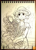 073: The flowers she loved by 365-Hatsu