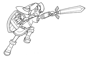 Link TP lineart by FlintofMother3