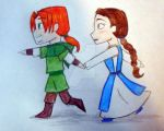 Chibi Loki and Sigyn by GoblinQueenSelene