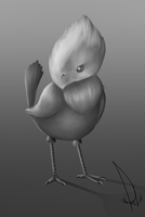 cute lil Chocobo doodle by kaniphish