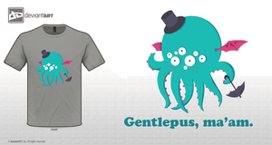 Gentlepus, ma'am - T-shirt design by ellegial
