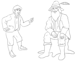 Farmer Maggot and Tom Bombadil by Puddum