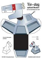 Tin Dog Optical illusion Plans by MikesStarArt
