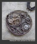 Steampunk moon pendant by bodaszilvia