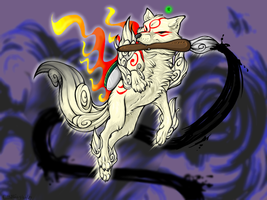 Okami Contest entry: BATTLLLLE by KiRAWRa