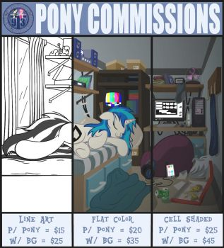 Pony Commissions (CLOSED) by Template93