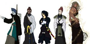 Five OC Kages From Naruto RPG by forumPROJECT by PhilipeATS