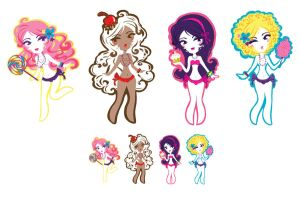 Sticker minis FULL set by Blush-Art