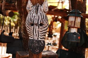 zebra mask coleman lamp by MLeighS
