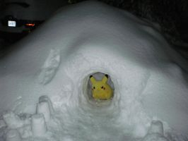 Pikachu's Snow Cave by CharmandersFlame