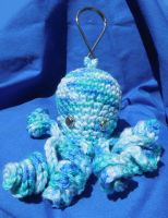 Octopus keychain by crochetamommy
