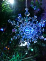 Blue Christmas Snowflake by aragornsparrow