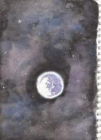 Fantasy moon from sketch book by RELusion76
