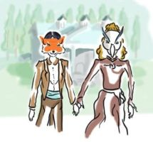 The Fox And The Haron by Mothmona