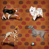 Dogs of Halloween by Lapruccia