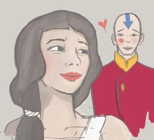 Young Lin and Tenzin by heyJoseline