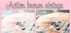 Action brown Vintage by Luchii by LuchiiTutoriales