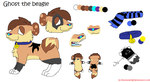 Ghost the beagle ref by Kklobster