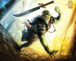 Stumbling Orc by lorraine-schleter