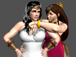 Request - Wonder Woman and Chun Li by Marcelievsky