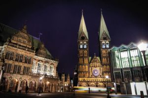 Bremen at night by Galatheon