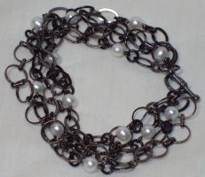 Chained Pearls Bracelet - SOLD by ACrowsCollection