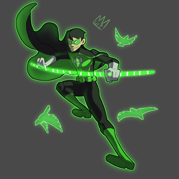 Green Lantern Robin by Turtleking900