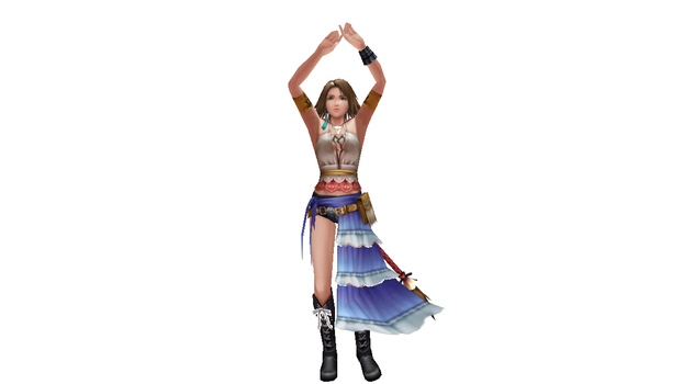 MMD Newcomer - Yuna FFX-2 Dissidia Outfit by Xeno-Fan-Jay