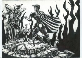 Spawn Vs. Superman Page 2 by darkpassenger1888
