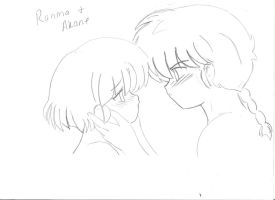 Ranma and Akane _Love (pencil drawing) by soulfire524