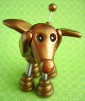 Golden Gino Angel Robot Dog by HerArtSheLoves