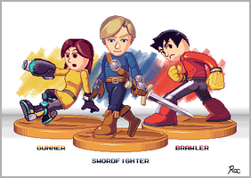 Mii Fighters by LordRoc
