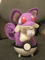 Rattata Plush by Vulpes-Canis
