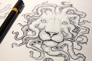 Lion-octopus by Hands-hooks