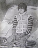 Striped Smoker With His Ride by MattJeevasLover