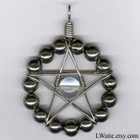 Pyrite and Clear Quartz Star Pendant by LWaite