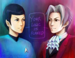 Spock Edgeworth by lilythescorpio