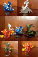 Elememntal Dragon Statues by SonsationalCreations