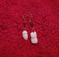 Marble Teeth Dangle Earrings by DancingVulture