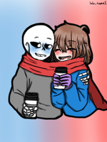 Winter sansxfrisk by lolo-sama1