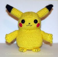 Pikachu - front view by lovebiser
