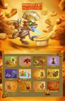 Merfle Munchies 2011 Calendar by The-SixthLeafClover