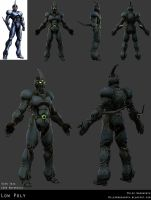 Guyver Low Poly Model Sheet by 31883milesperhour
