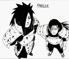 Madara and Hashirama by KabelekTrickz