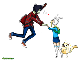 Marshall lee x Fionna by ihaslemons