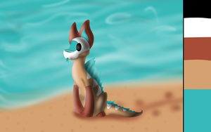 Finur at the shore - Contest Entry 2 by Animal-Cartoonist140