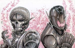 Brainiac and Ultron by olybear