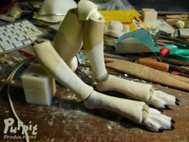 W.I.P: Firefox and snowfox BJD  New ankle lock 1 by PuppitProductions